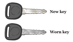 New Auto Key vs Worn Auto Key